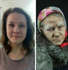 До и после. Работа на пратической части занятий