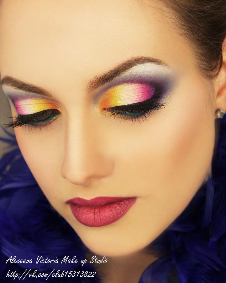 макияж в акварельной технике