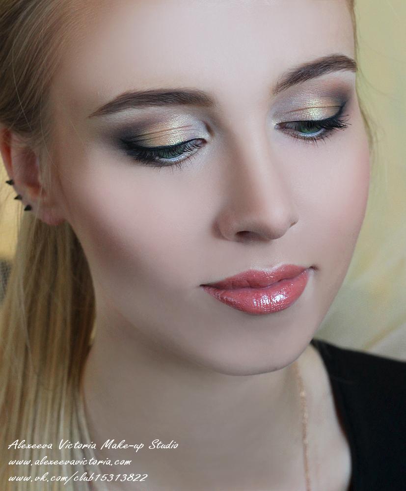 карандашная техника, свадебный макияж